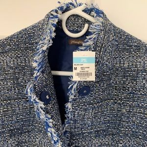 J. McLaughlin Jackets & Coats - J. McLaughlin Modern Denim Blue Tweed Coat
